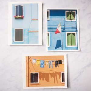 Other - Set of 3: 8.5x11 Prints of Colorful Homes, Italy